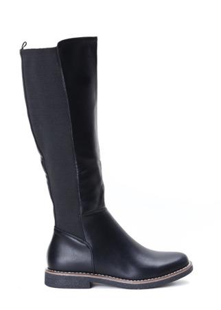 Czarne kozaki Gabriella- Obuwie