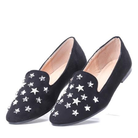 Czarne mokasyny z gwiazdkami Shimmer- Obuwie