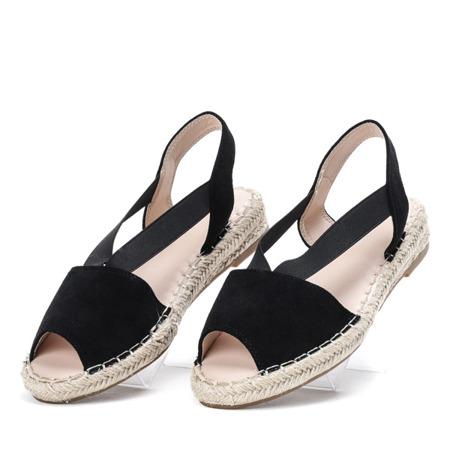 Czarne sandały a'la espadryle Go Solo - Obuwie