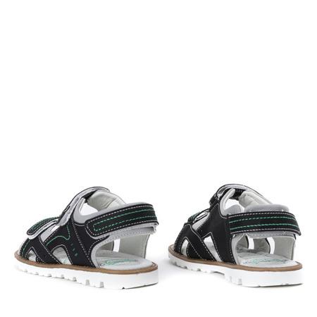 Czarne sandały chłopięce Enek - Obuwie