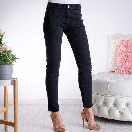 Czarne spodnie z prosta nogawką - Spodnie