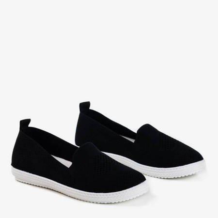 Czarne sportowe buty typu slip on Laurita - Obuwie