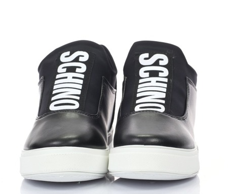 Czarne, sportowe obuwie z ozdobną taśmą Esmeralda - Obuwie