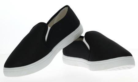 Czarne, sportowe trampki - Obuwie