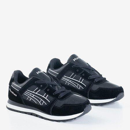 Czarno-białe sportowe damskie buty Qatie - Obuwie