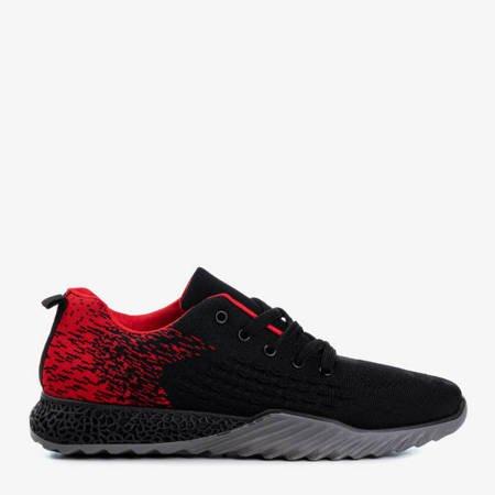 Czarno-czerwone sportowe męskie buty Forsage - Obuwie