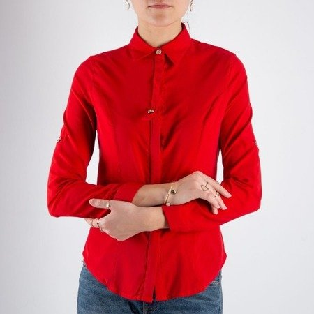 Czerwona damska koszula - Bluzki