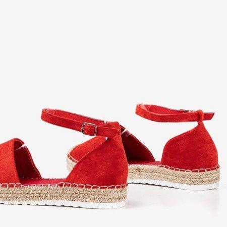 Czerwone espadryle damskie na platformie Citiva - Obuwie