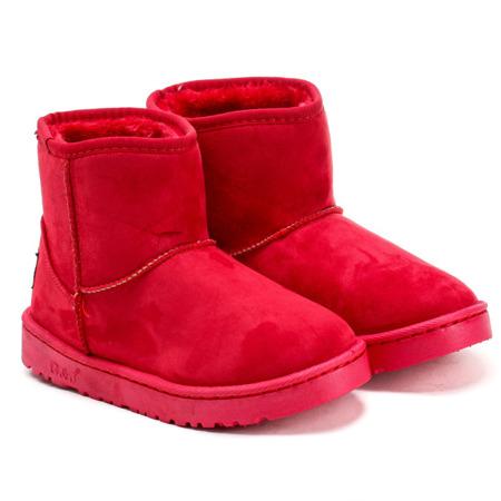 Czerwone, ocieplane śniegowce - Obuwie