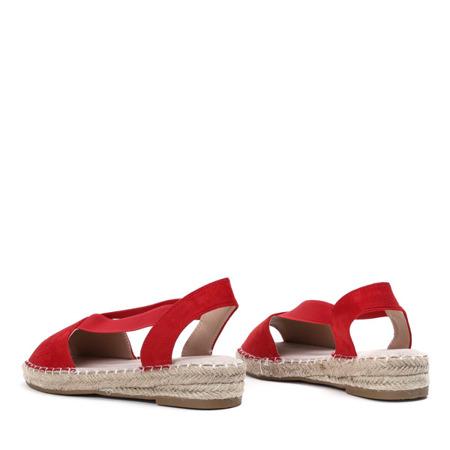 Czerwone sandały a'la espadryle na platformie Motilla - Obuwie