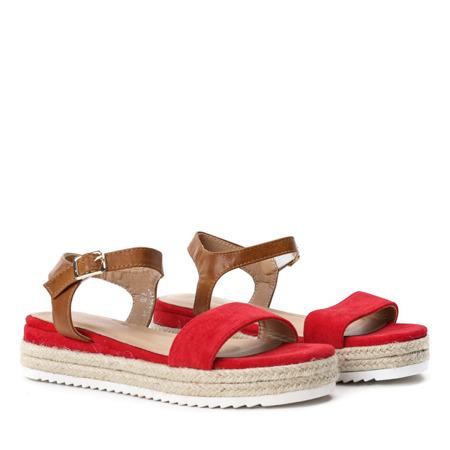 Czerwone sandały na platformie Marinta - Obuwie