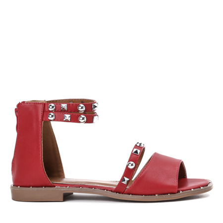 Czerwone sandały z ćwiekami Spica - Obuwie