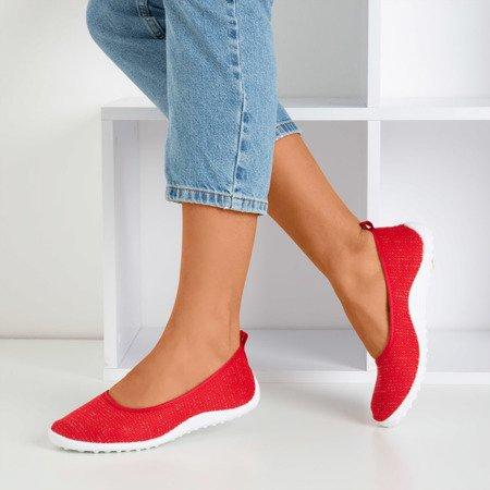 Czerwone tenisówki slip-on damskie Calicija - Obuwie