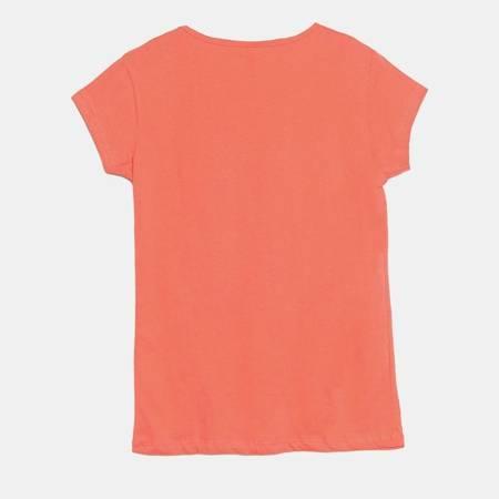 Czerwony t-shirt damski z nadrukiem - Odzież