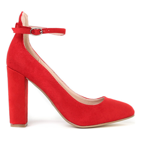 Czółenka na wysokim słupku w kolorze czerwonym Briella - Obuwie