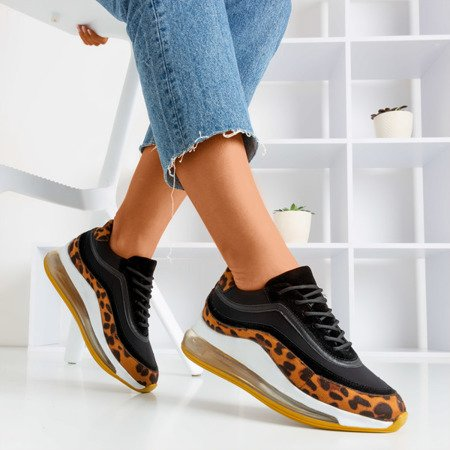 Damskie sneakersy w panterkę Feel Fantastic - Obuwie