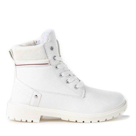 Dziewczęce białe trapery Aoxian - Obuwie