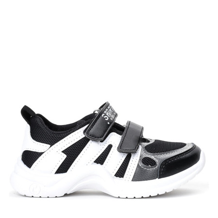 Dziecięce czarne buty na grubej podeszwie Pilija -Obuwie