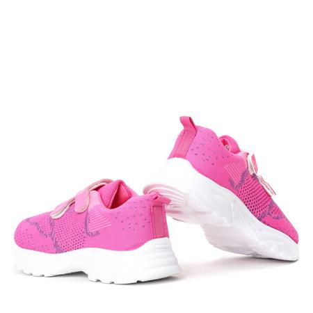 Fuksjowe sportowe dziewczęce buty Violetea - obuwie