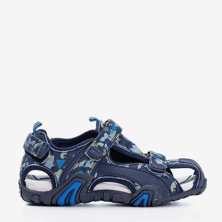Granatowe chłopięce sandały moro Chester - Obuwie