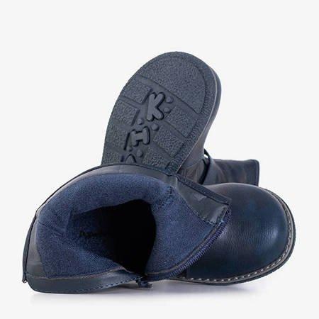 Granatowe dziecięce botki pikowane Liux - Obuwie