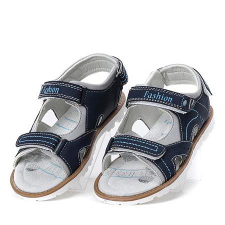 Granatowe sandały chłopięce Enek - Obuwie