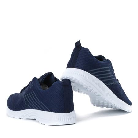 Granatowe sportowe buty męskie Logon - Obuwie