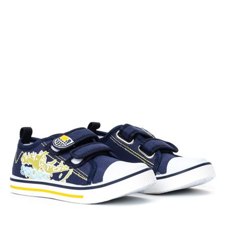 Granatowe sportowe chłopięce buty Norn - Obuwie