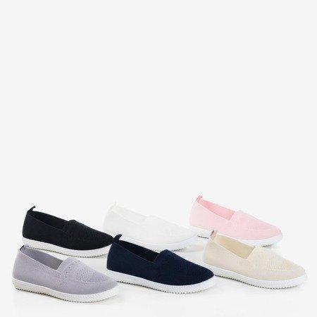 Jasnoróżowe sportowe buty typu slip on Tolva- Obuwie