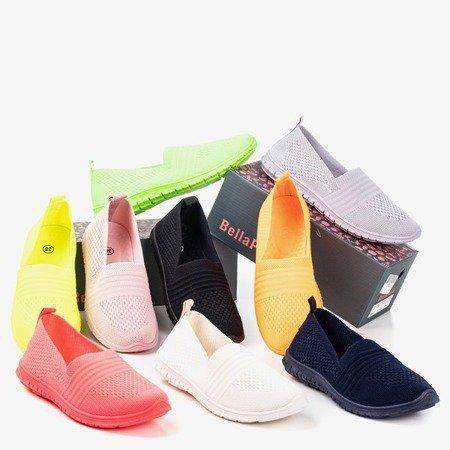 Jasnoróżowe tenisówki slip-on damskie Colorful - Obuwie