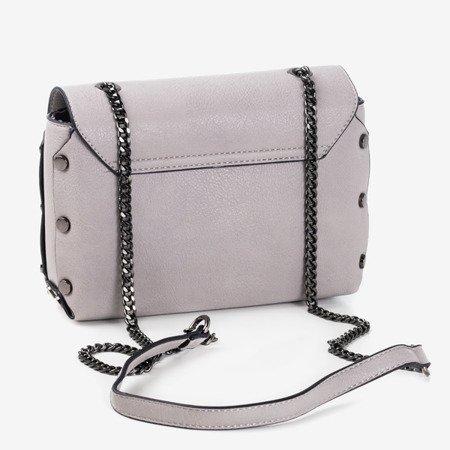 Jasnoszara mała torebka na ramię - Torebki