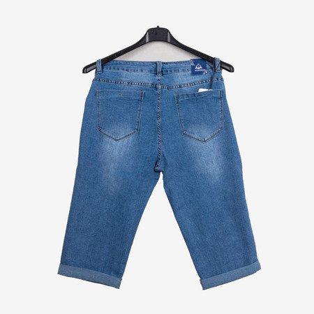 Krótkie damskie spodnie jeansowe - Odzież