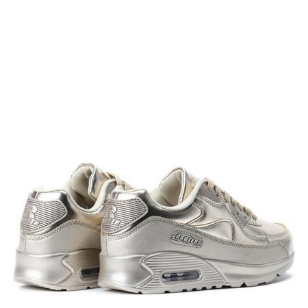 Metaliczne, sportowe buty air w kolorze złotym Jalanda - Obuwie
