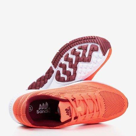 Neonowe pomarańczowe męskie buty sportowe Erol - Obuwie