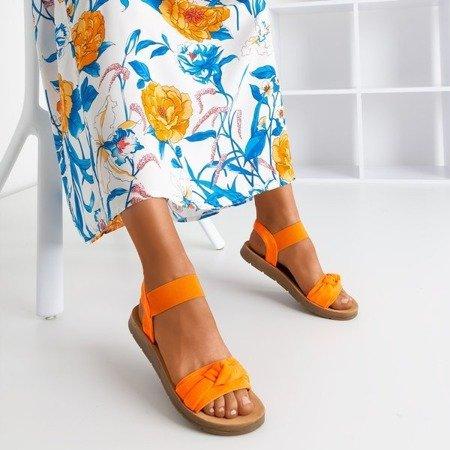 Neonowe pomarańczowe sandały Redish - Obuwie