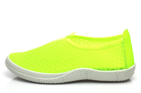 Neonowe żółte slip on Naella- Obuwie