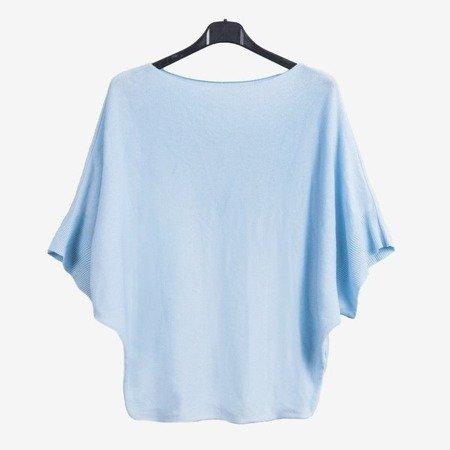 Niebieski damski sweter - Swetry