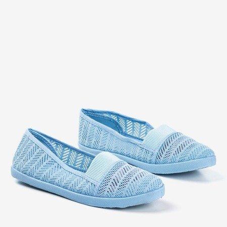 Niebieskie damskie ażurowe slip - on Heyan - Obuwie
