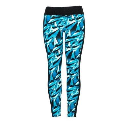 Niebieskie getry z geometrycznym wzorem - Spodnie