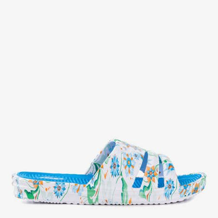 Niebieskie gumowe klapki Napea - Obuwie