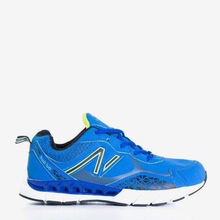 Niebieskie męskie buty sportowe Amadeo - Obuwie