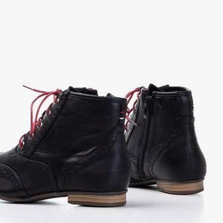 OUTLET Czarne damskie botki Antiokia - Obuwie