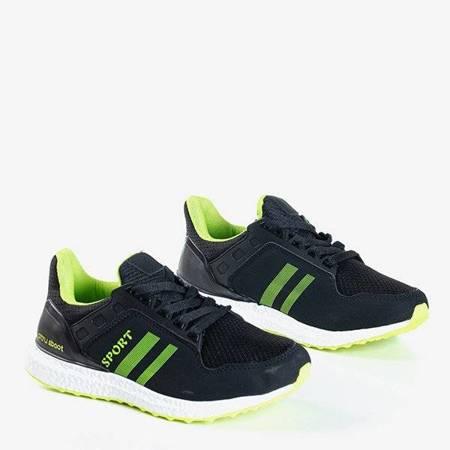 OUTLET Czarno-zielone sportowe buty damskie Birala - Obuwie