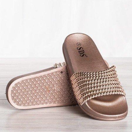 OUTLET Różowe klapki gumowe Gacciastrea - Obuwie