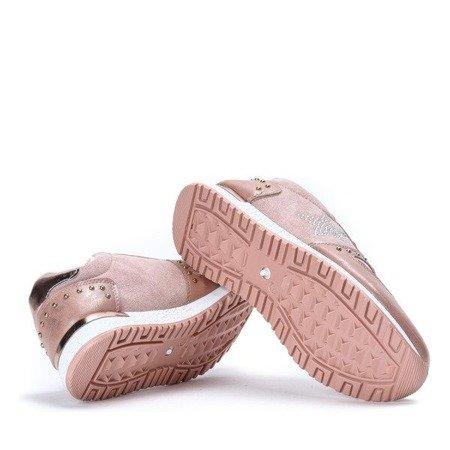 OUTLET Różowe sportowe buty z ozdobną gwiazdką Stellan - Obuwie
