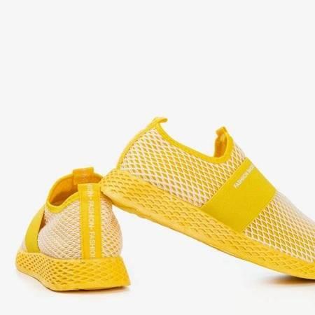 OUTLET Żółte sportowe buty damskie typu slip - on Andalia - Obuwie