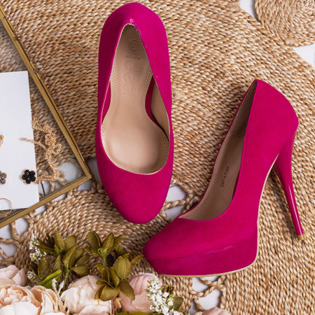 Różowe czółenka na szpilce Linita - Obuwie