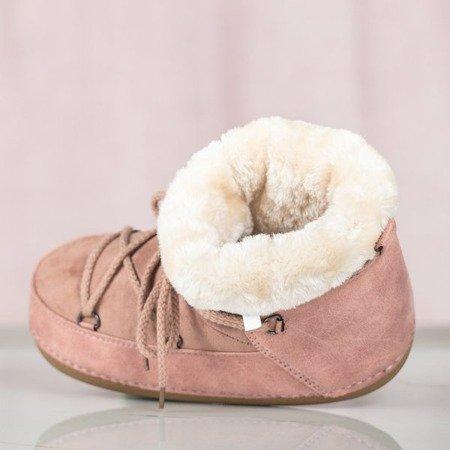 Różowe damskie śniegowce Eskimos - Obuwie