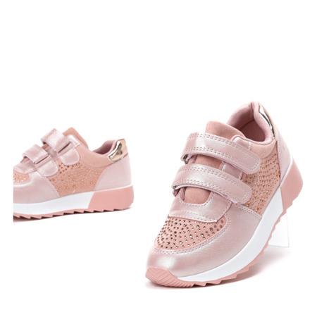 Różowe dziewczęce buty sportowe Elsane - Obuwie