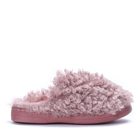 Różowe kapcie Puffy - Obuwie